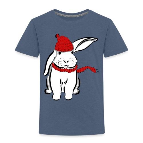 Kaninchen Hase Mütze Schal Schlappohr Schneehase - Kinder Premium T-Shirt