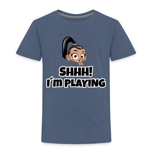 Shhh I'm Playing! Layla trivisk - Kids' Premium T-Shirt