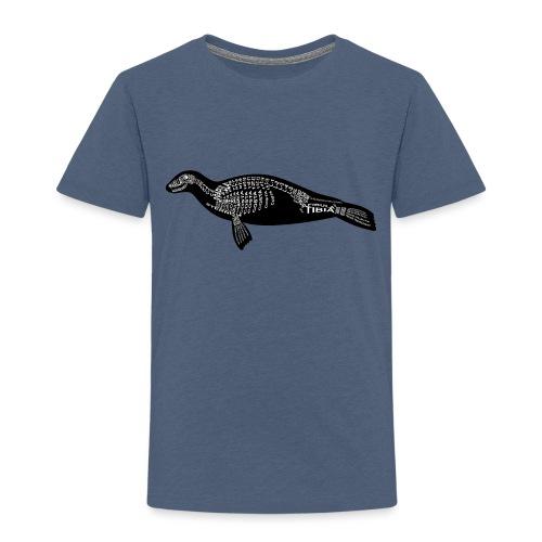 Robben skelet - Børne premium T-shirt