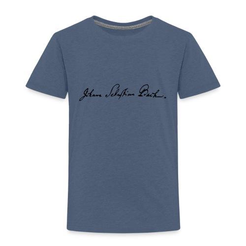 Johann Sebastian Bach Unterschrift - Kinder Premium T-Shirt