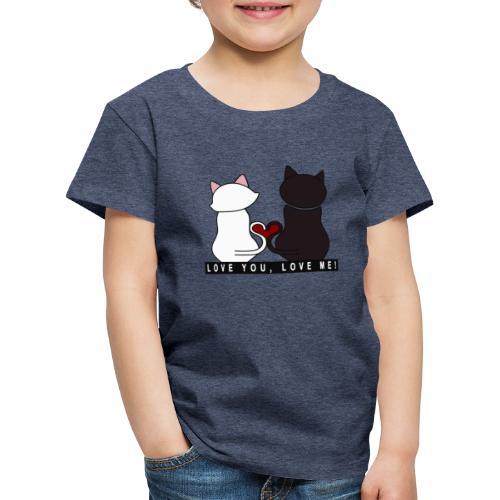 Couple de chats - Love you Love me - T-shirt Premium Enfant