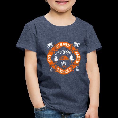 Eat Sleep Camp - Camper T-Shirt - Kinder Premium T-Shirt