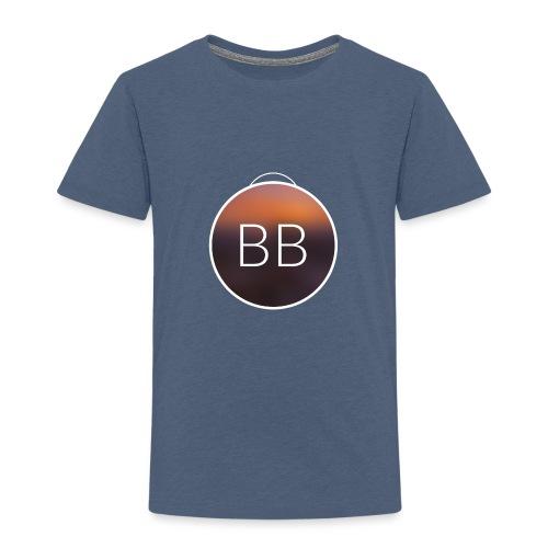 Blue Bros rund, mit Bild im Blur - Kinder Premium T-Shirt
