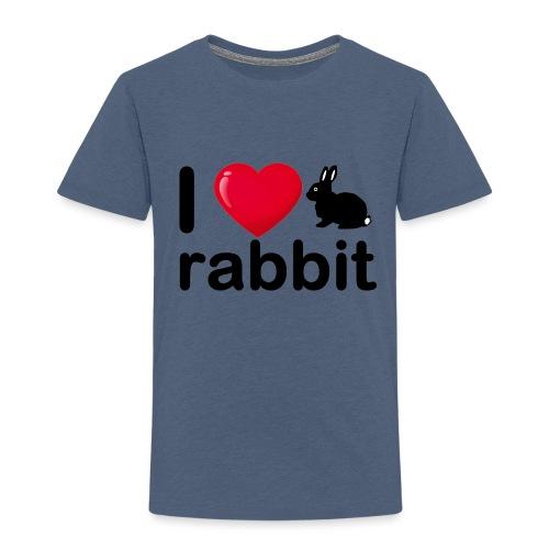 Zu nett Kaninchen i love black rabbit - Kinder Premium T-Shirt