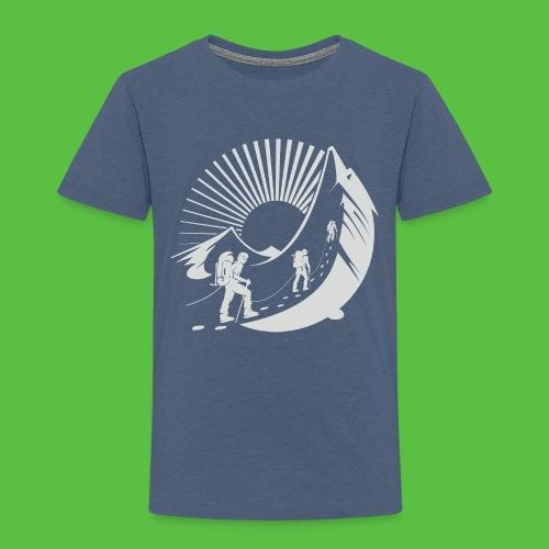 Climbing Mountain - Kinder Premium T-Shirt
