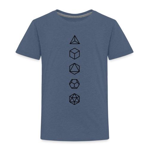 Platonische Körper Bausteine des Lebens Elemente - Kinder Premium T-Shirt