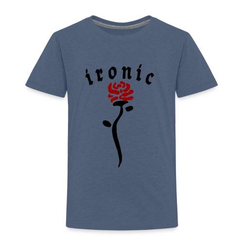 Ironic Rose - Børne premium T-shirt
