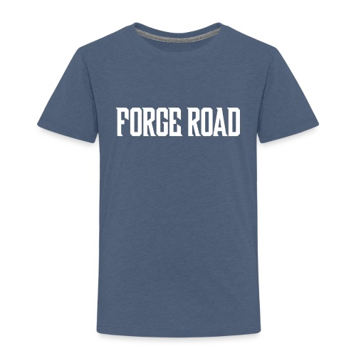 Forge Road Logo - White - Kids' Premium T-Shirt
