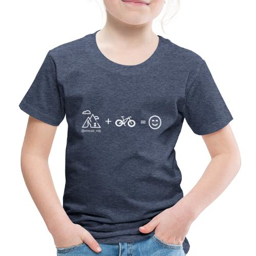 Mountains + Bike = Happiness - Kids' Premium T-Shirt