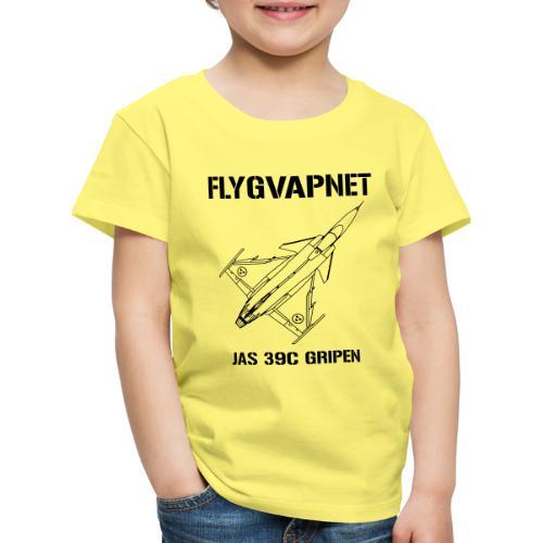 FLYGVAPNET - JAS 39C - Premium-T-shirt barn