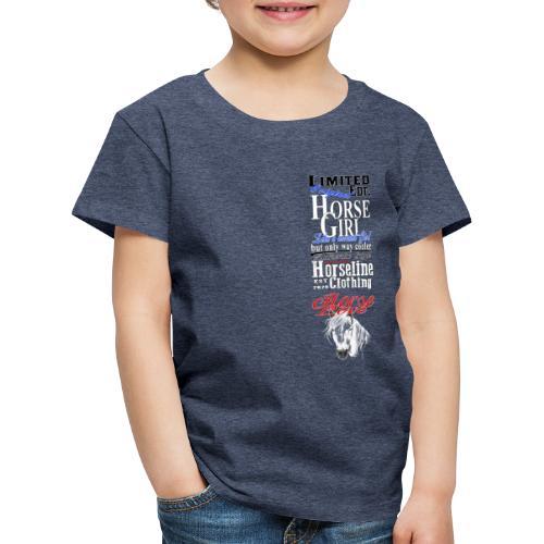 Limited Edition HorseGirl Pferdemädchen Pferde - Kinder Premium T-Shirt