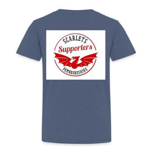 Scarlets Supporters Pembrokeshire Logo - Kids' Premium T-Shirt