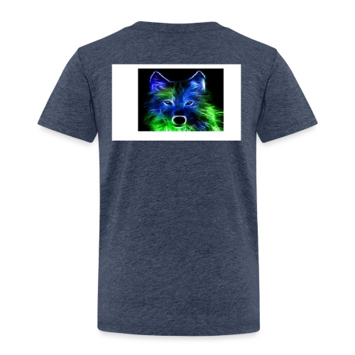 green and blue wolf - Kids' Premium T-Shirt