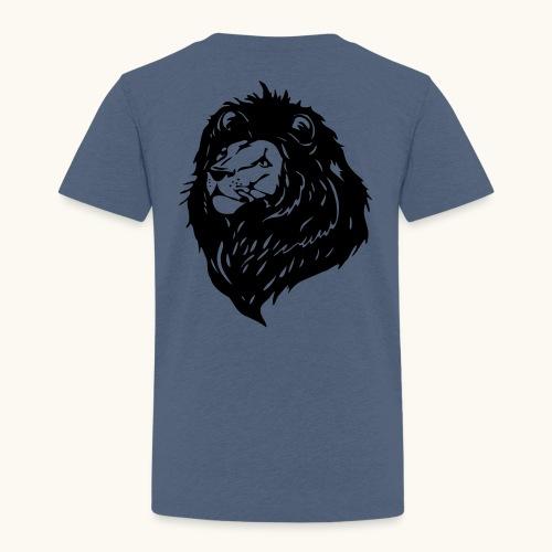 Lions tête fièrement élevés avec crinière noire - T-shirt Premium Enfant