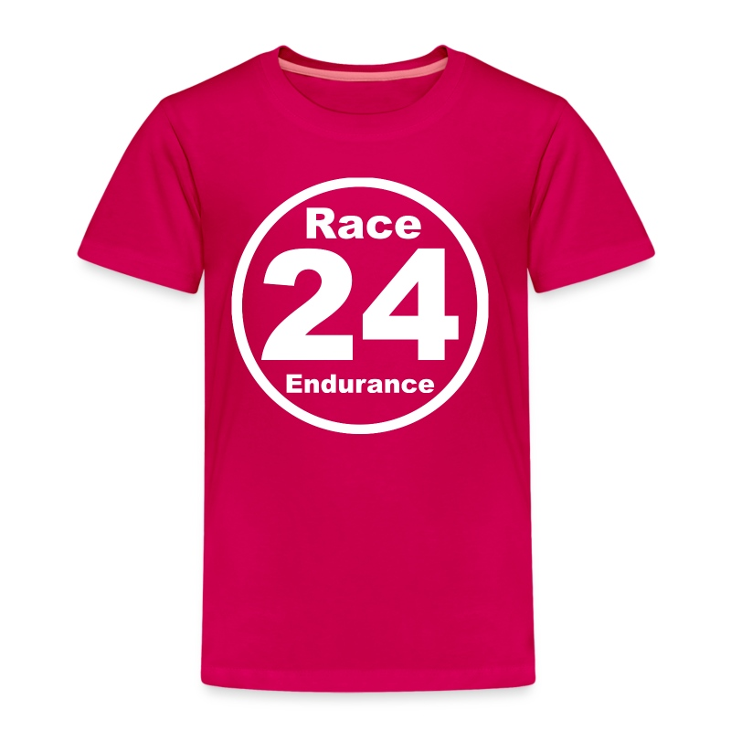 Race24 round logo white - Kids' Premium T-Shirt