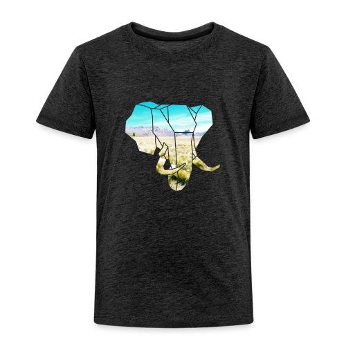 Elefant mit Steppe - Kinder Premium T-Shirt