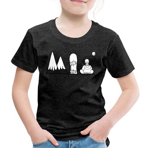 snowboard et montagnes - T-shirt Premium Enfant