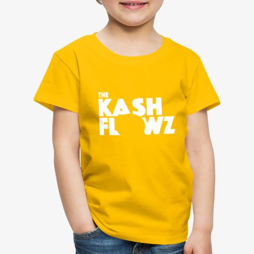 The Kash Flowz Official Logo White - T-shirt Premium Enfant