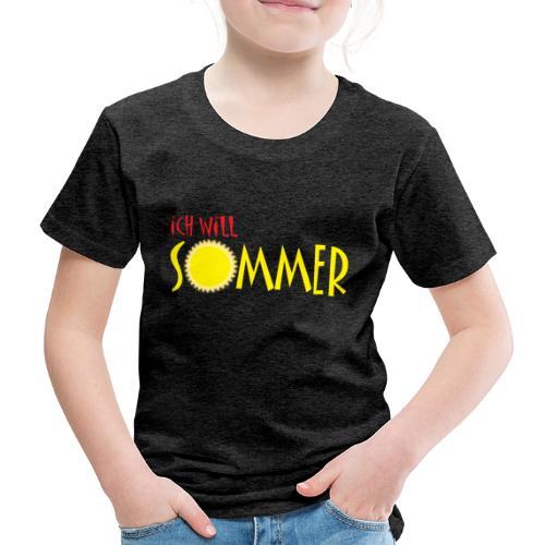 Ich will Sommer - Kinder Premium T-Shirt