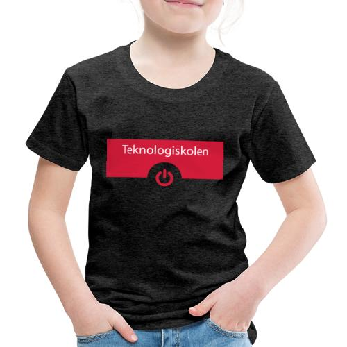 TeknologiskolenLogo - Børne premium T-shirt