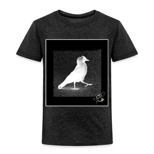 Cool Jackdaw by BlackenedMoonArts, w. logo - Børne premium T-shirt