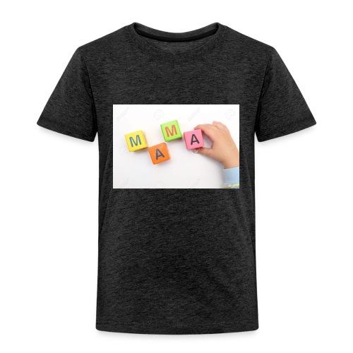 18083457 Enfant construit avec des cubes de mot ma - T-shirt Premium Enfant