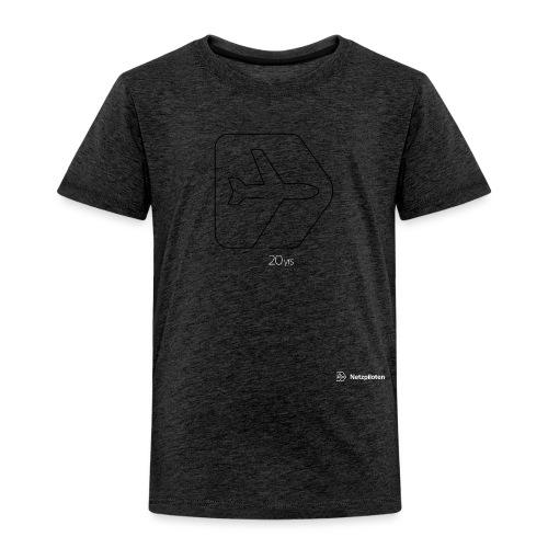 Netzpiloten Logo weiss - Kinder Premium T-Shirt
