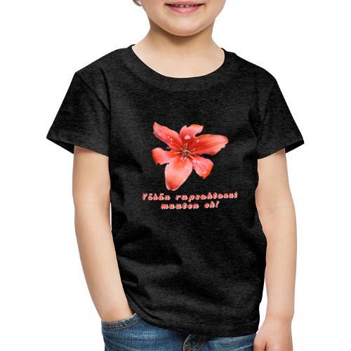 Vähän rupsahtanut, muuten ok - Lasten premium t-paita