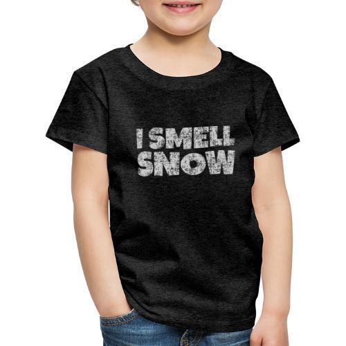 I Smell Snow (Grau) Schnee, Winter, Wintersport - Kinder Premium T-Shirt