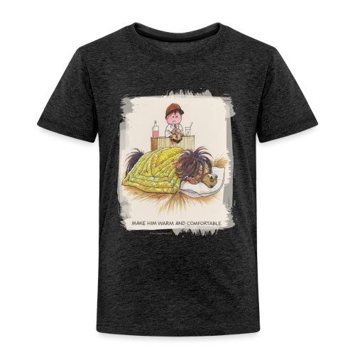 Thelwell Cartoon Pony liegt unter der Bettdecke - Kinder Premium T-Shirt