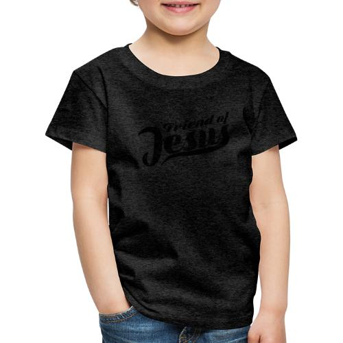 Friend of Jesus schwarz - Kinder Premium T-Shirt