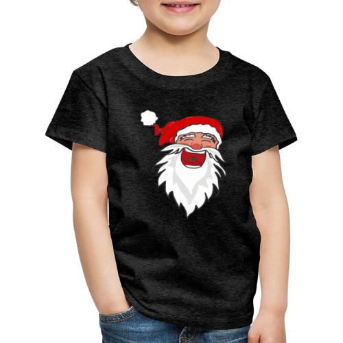 Lachender Nikolaus Santa Clause Weihnachten - Kinder Premium T-Shirt