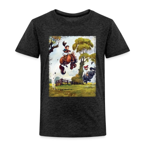 Thelwell Cartoon Pony Rodeo - Kinder Premium T-Shirt