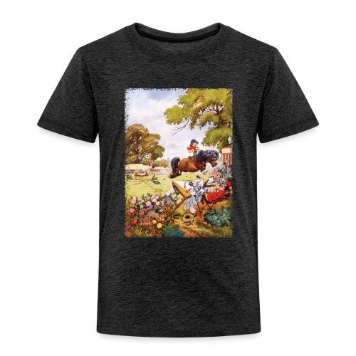 Thelwell Cartoon Pony Turnier - Kinder Premium T-Shirt