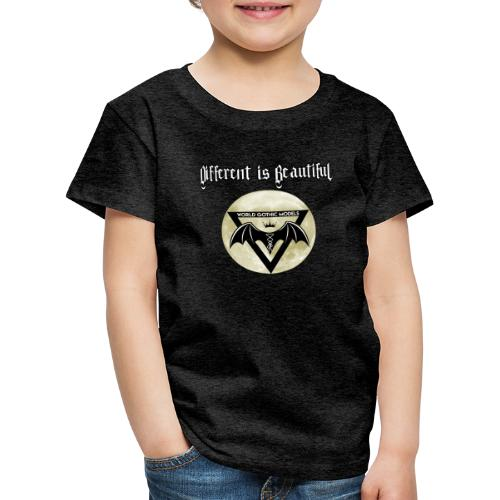 Different is Beautiful with Moon WGM Logo - Kids' Premium T-Shirt