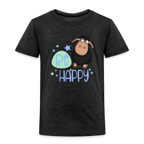 Black sheep - Be happy sheep - lucky charm - Kids' Premium T-Shirt