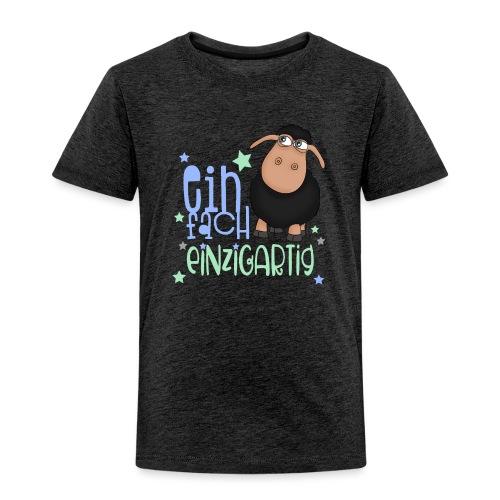 Einfach einzigartig: schwarzes Schaf kleines Schaf - Kinder Premium T-Shirt