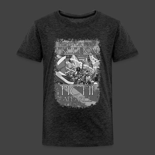 PICTFREE2b - BLACK & WHITE - Kids' Premium T-Shirt