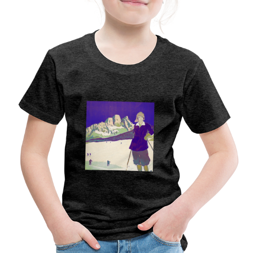 Ski trip vintage poster - Kids' Premium T-Shirt