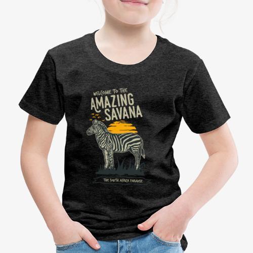 Zèbre - T-shirt Premium Enfant