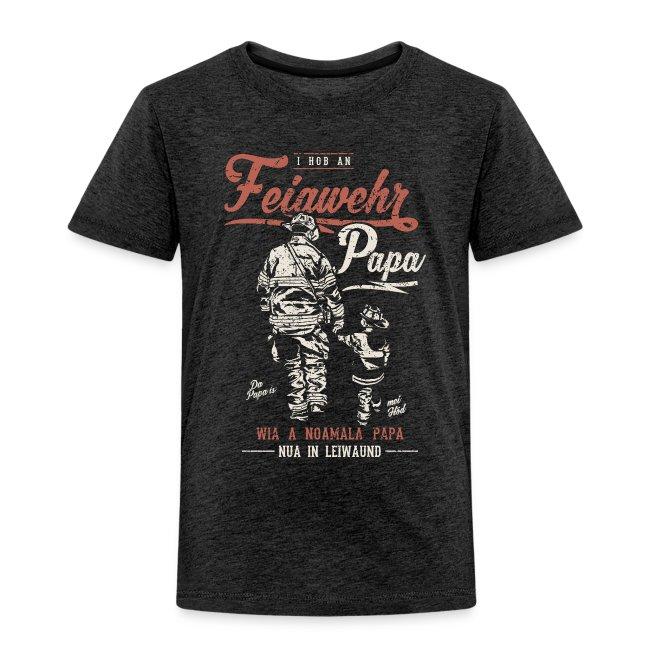Vorschau: Feiawehrpapa - Kinder Premium T-Shirt