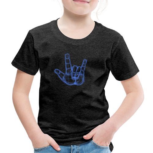 Sketchhand ILY - Kinder Premium T-Shirt