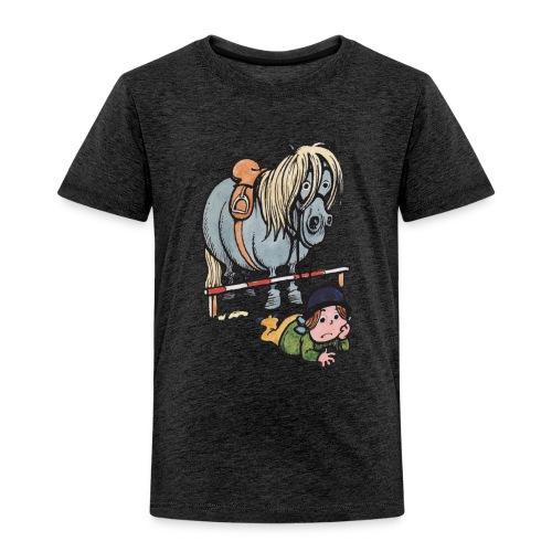 Thelwell Reiterin Liegt Hinter Dem Sprung - Kinder Premium T-Shirt