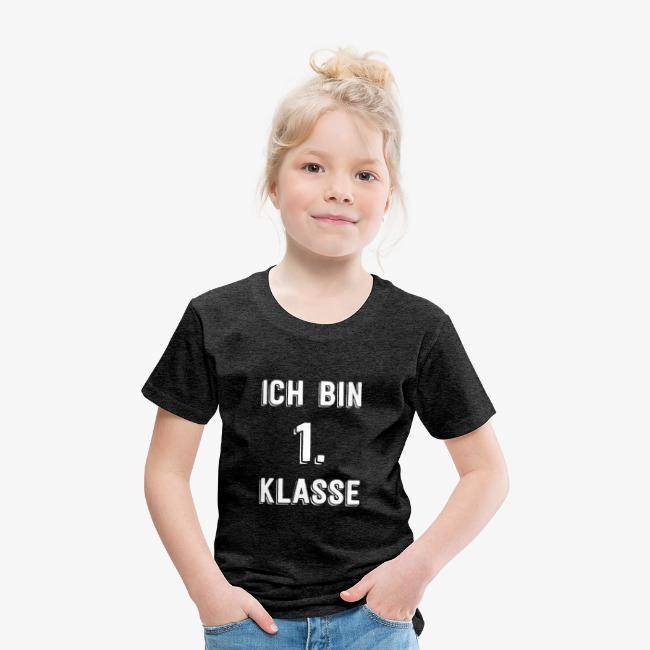 Einschulung Ich Bin 1 Klasse Schulanfänger Kinder Premium T-Shirt