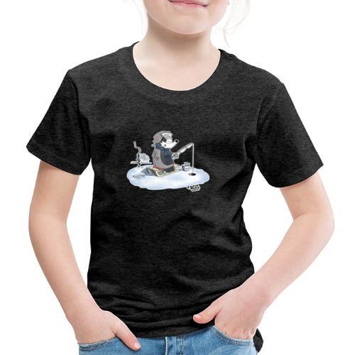Ice Fishing Badger - Premium T-skjorte for barn