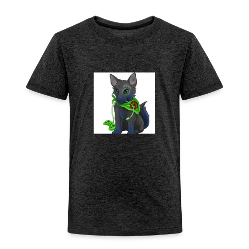 Wolfie Plays Gaming - Kids' Premium T-Shirt