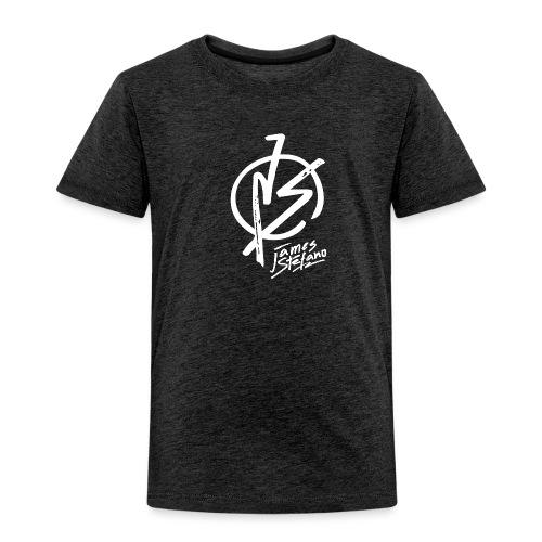 James Stefano 2017 Logo Wit - Kinderen Premium T-shirt