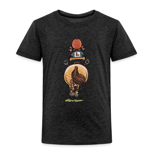 Thelwell Funny Riding Beginner Illustration - Kids' Premium T-Shirt
