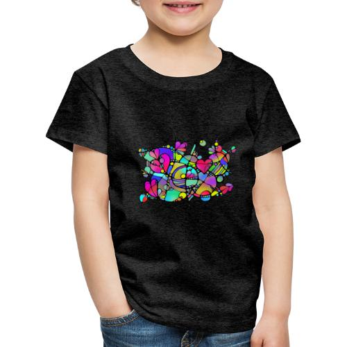 Abstrakte Kunst Neuro Art LOVE IS CRAZY 5 - Kinder Premium T-Shirt