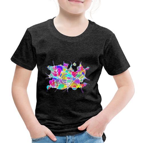 Abstrakte Kunst Neuro Art LOVE IS CRAZY 6 - Kinder Premium T-Shirt